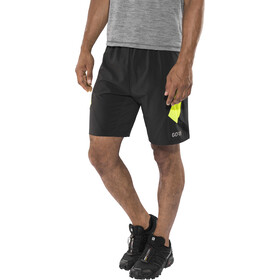GORE WEAR R5 2en1 Shorts Hombre, black/neon yellow